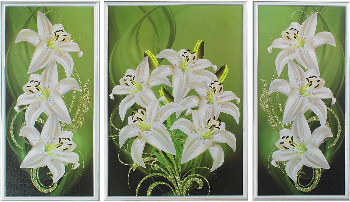 Картина Белые лилии. Трихтин, модульная, 2943432, 125 х 73 см картина бордовые тюльпаны трихтин модульная 2943431 125 х 73 см