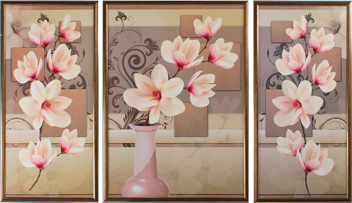 Картина Цветочная невесомость. Трихтин, модульная, 2943433, 125 х 73 см картина бордовые тюльпаны трихтин модульная 2943431 125 х 73 см