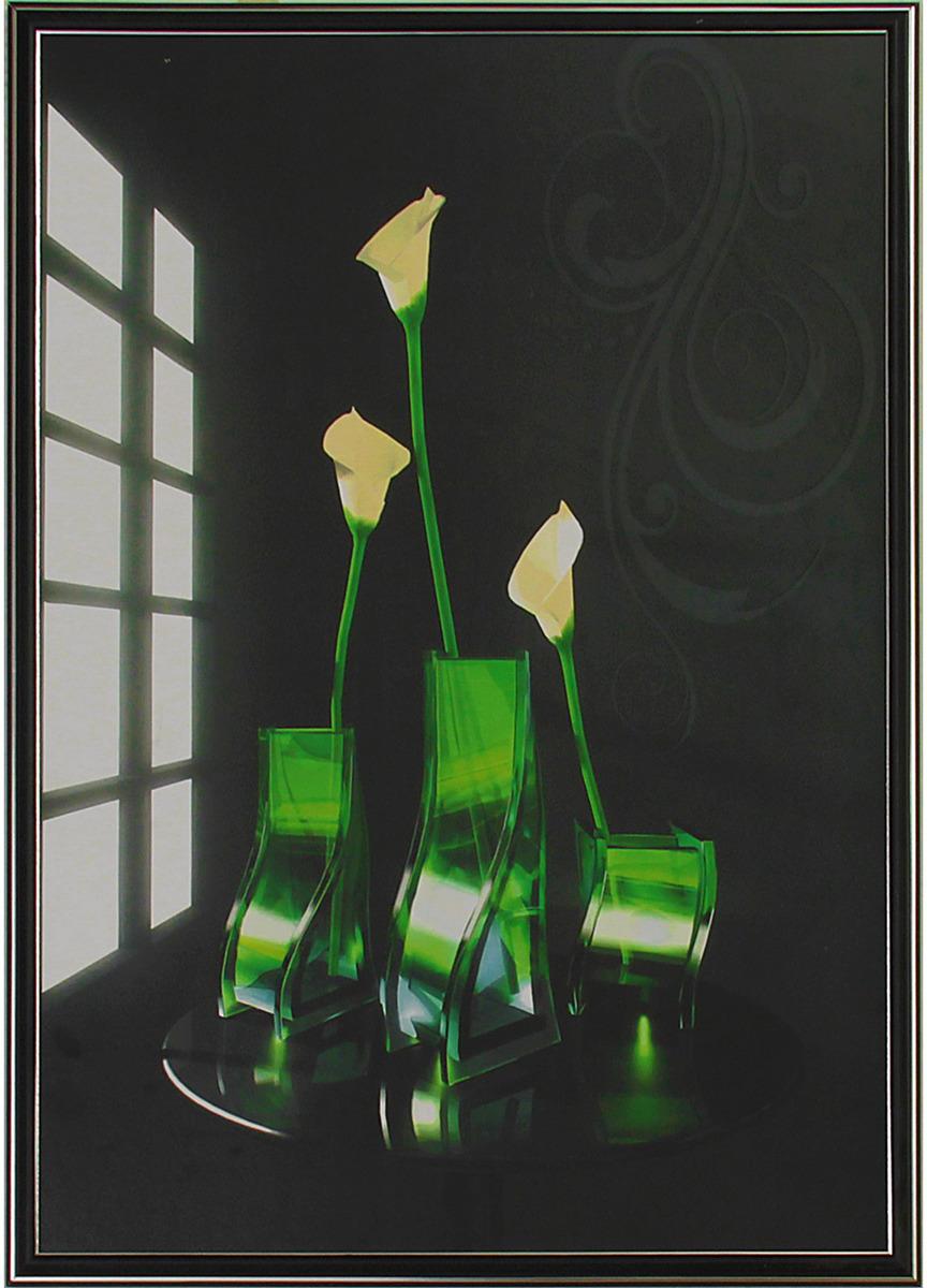 Картина Белые на черном. Трихтин, модульная, 3136754, 125 х 70 см картина бордовые тюльпаны трихтин модульная 2943431 125 х 73 см