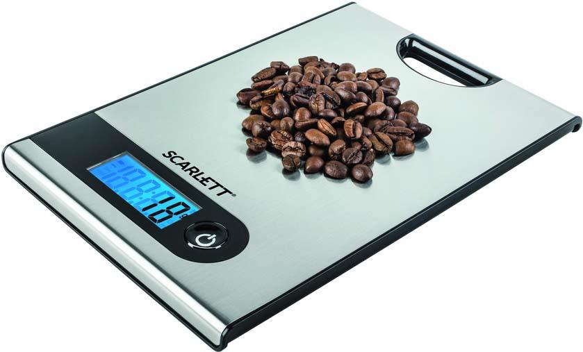 Кухонные весы Scarlett SC-KS57P98, серый металлик весы scarlett sc bs33e064