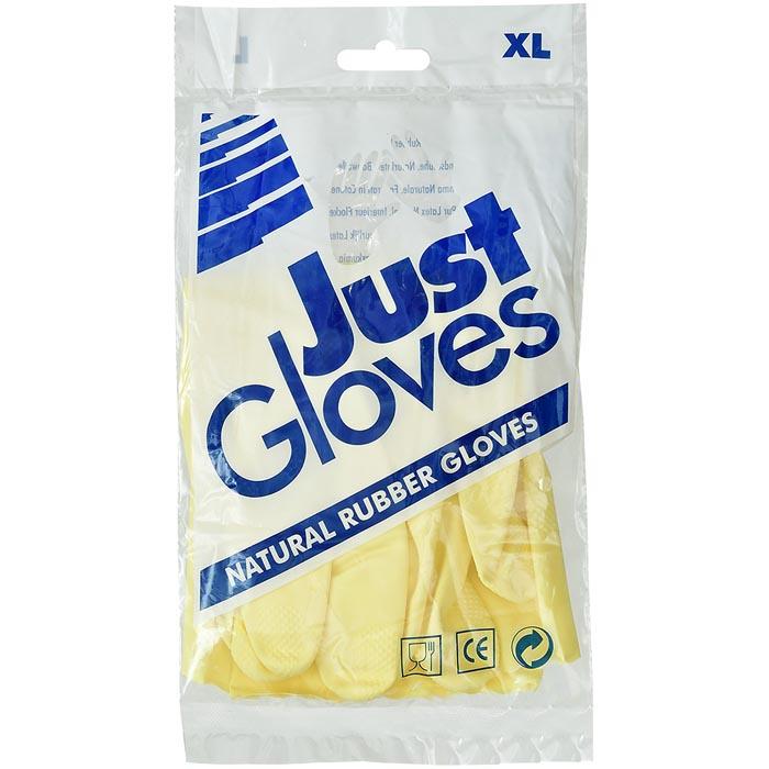 Перчатки хозяйственные Just Gloves ХL (144), Rubberex, желтый перчатки латексные русский инструмент 67724 х б 13 класс