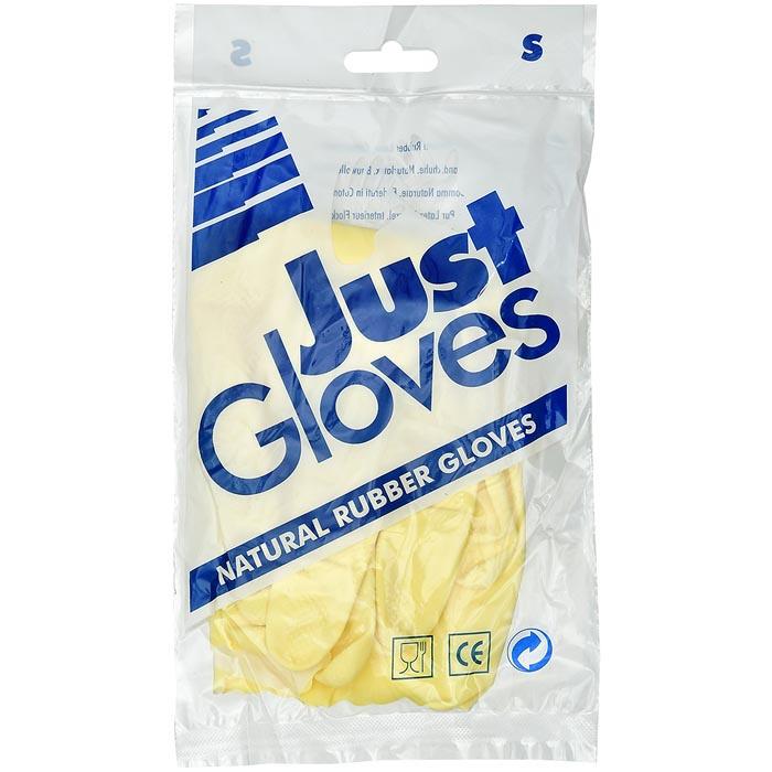 Перчатки хозяйственные Just Gloves S, желтый перчатки латексные русский инструмент 67724 х б 13 класс