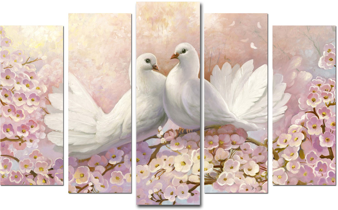 Картина Topposters Красота птиц, модульная, 3674940, 125 х 80 см картина topposters 78x50cm xh 231