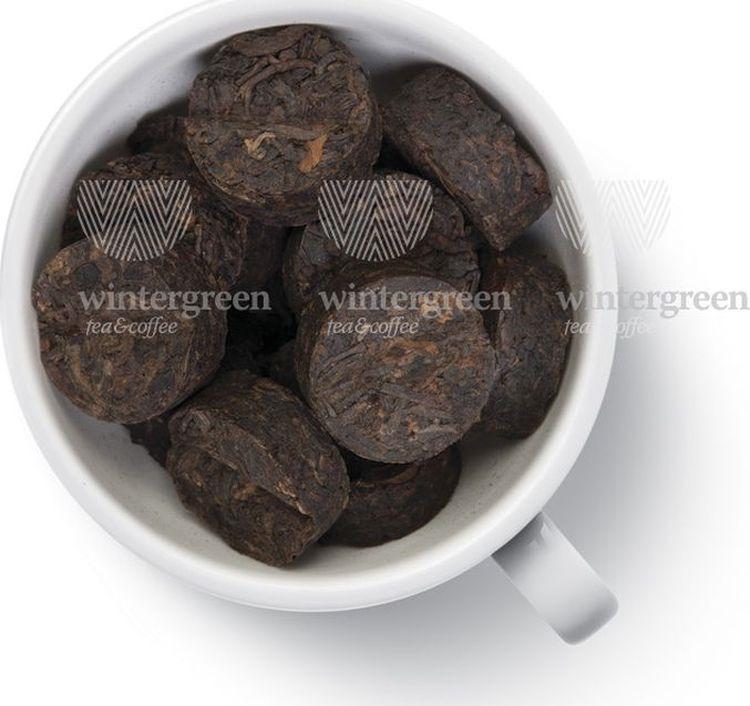 Чай листовой Gutenberg Tо Ча с кофейным зерном, пуэр прессованный, 500 г пуэр прессованный шу плитка 50 г 50 г