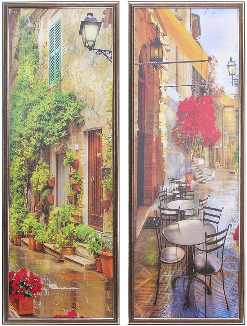 Картина Уличное кафе, модульная, 3865470, 88 х 64 см