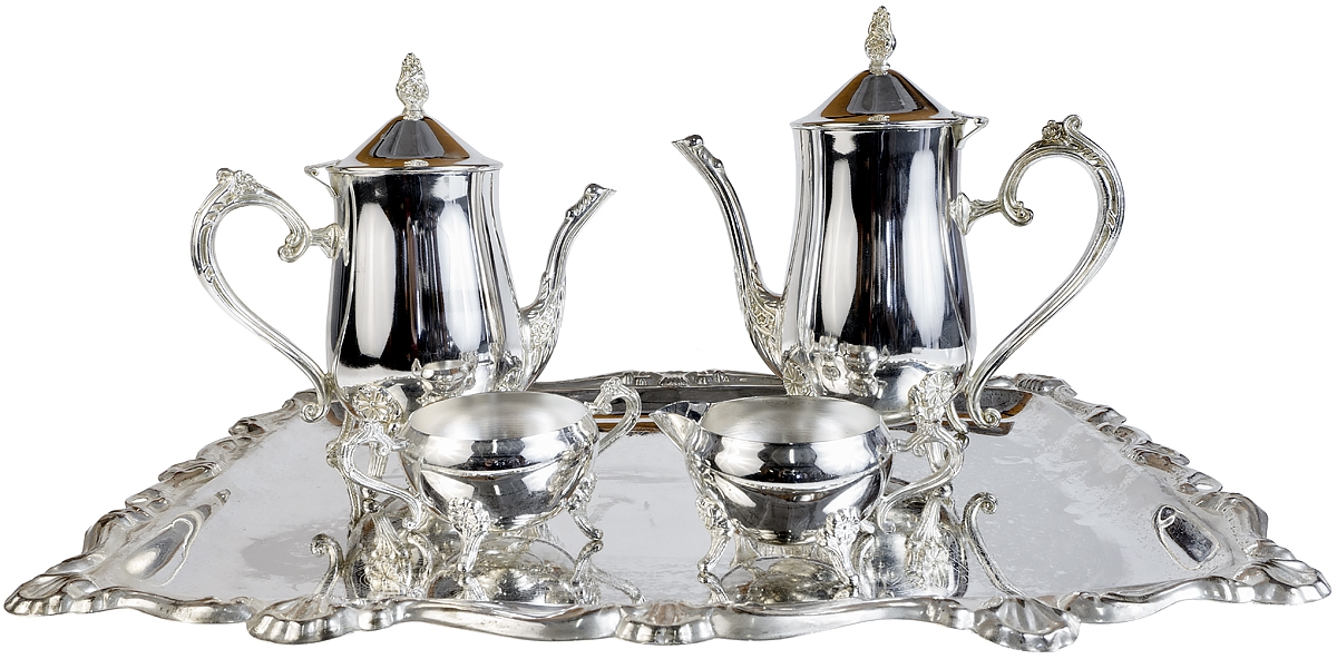 Набор для чая из 5-ти предметов. Металл серебрение. Великобритания вторая половина 20 века кофейный набор из двух предметов металл серебрение гравировка швеция gottfried karlsson первая половина xx века