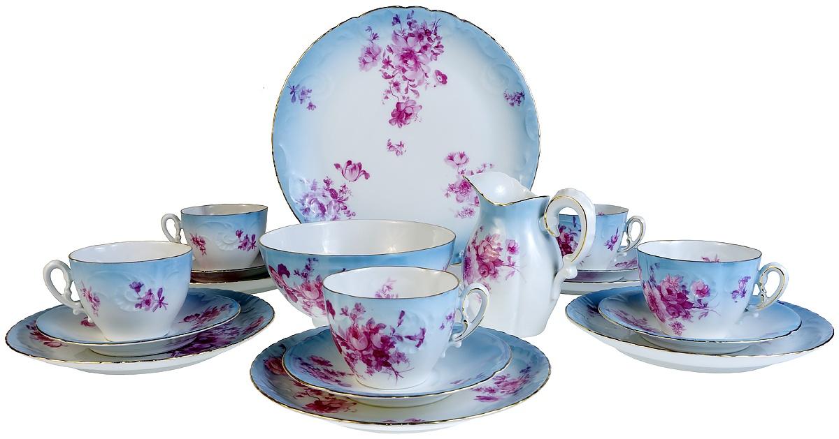 Набор для чая Epiag Сервиз Помпадур на 5 персон, 19 предметов. Чешский фарфор. 1930-е гг. набор форм для запекания home queen диаметр 18 5 см 3 шт
