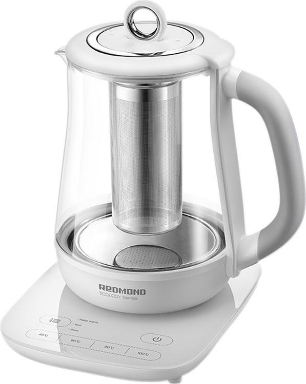 Чайник электрический Redmond RK-G1304D, белый