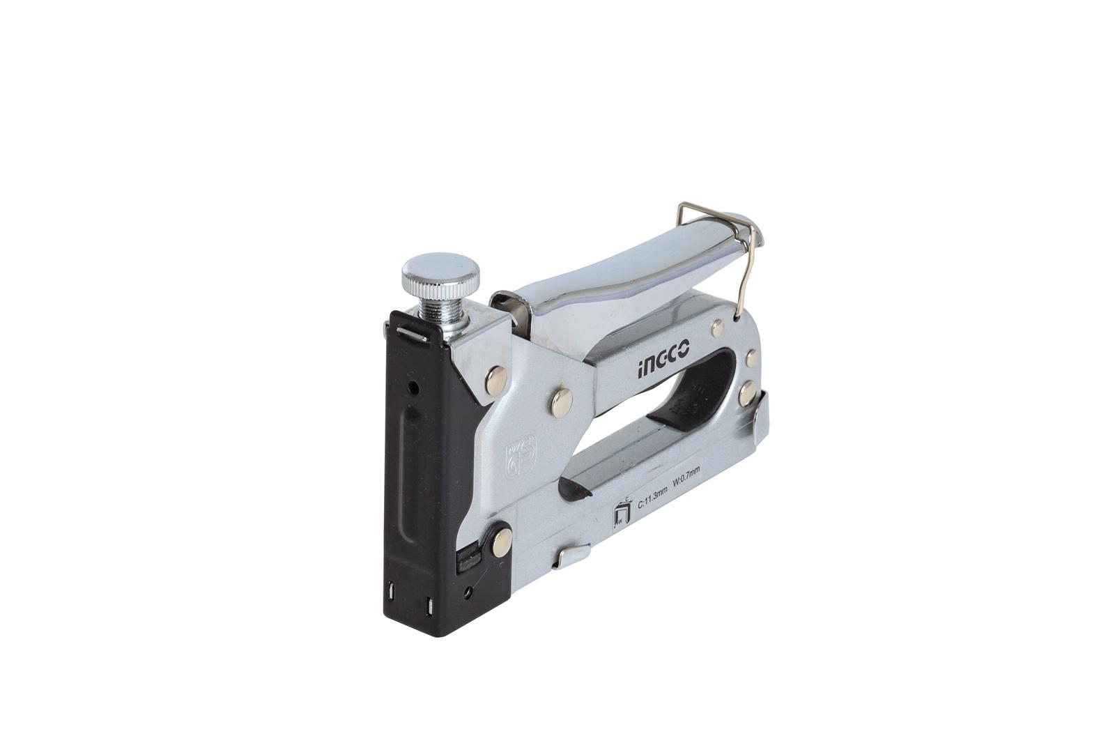 Степлер строительный INGCO HSG1403 INDUSTRIAL, 4-14мм, Cr-V