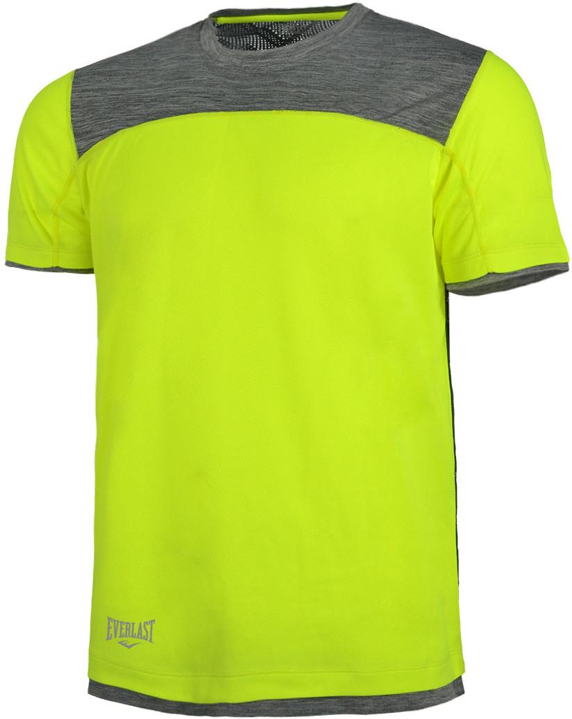 Футболка мужская Everlast Triple, цвет: желтый. EV77TAM180. Размер M (48/50)EV77TAM180