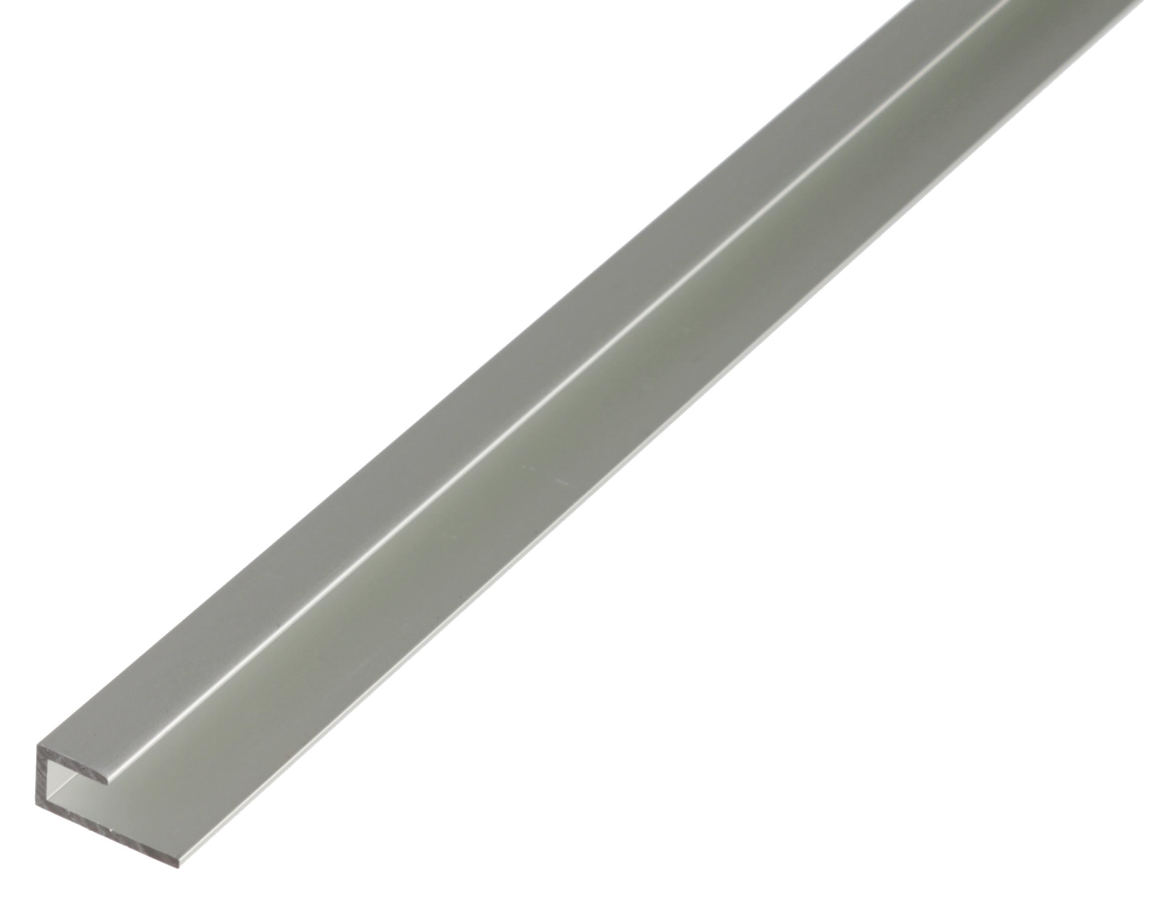 Профиль зажимной, Gah Alberts, алюминиевый, серебристый, 20x9x10х1000мм