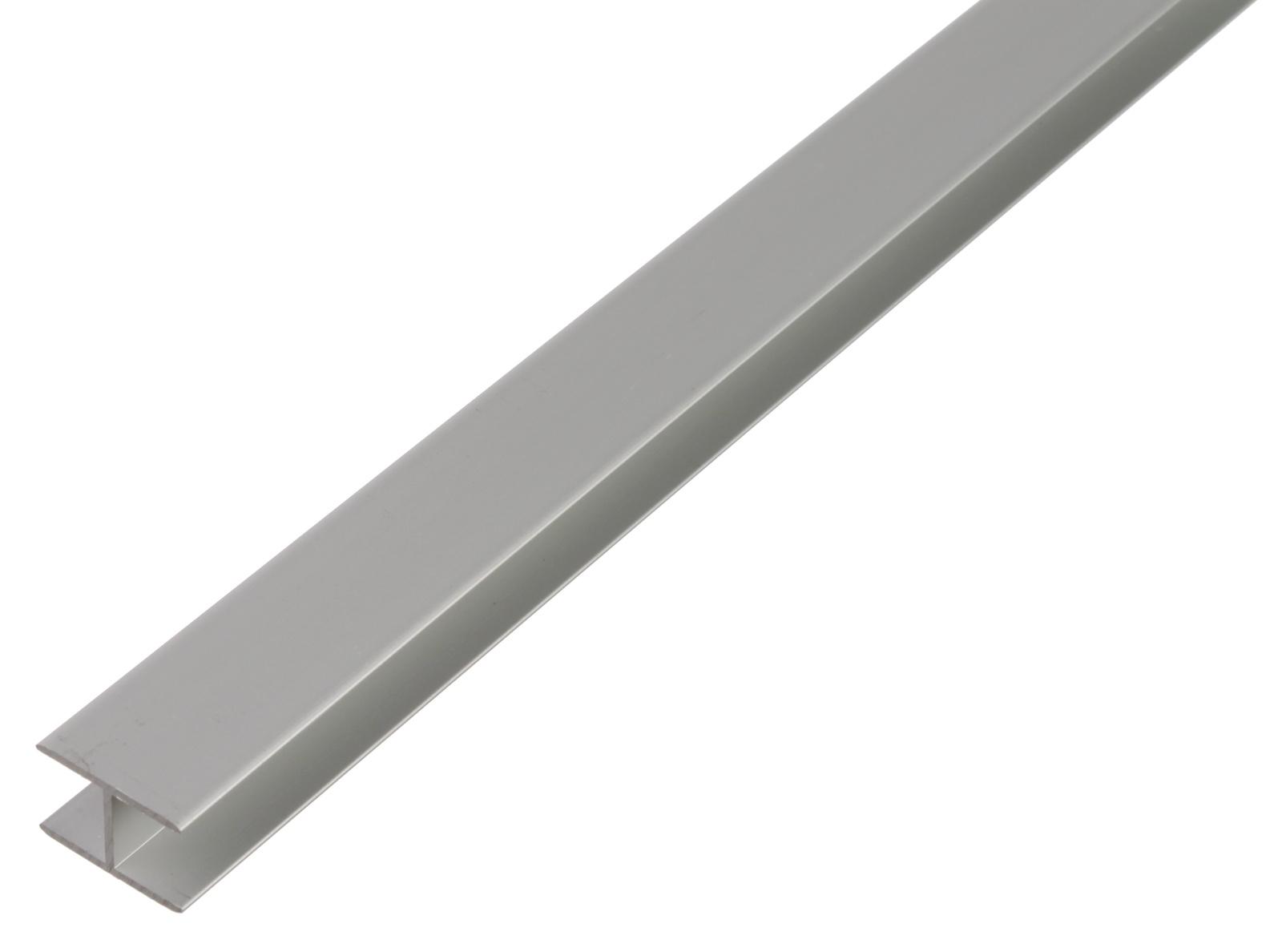 Профиль Н-образный, Gah Alberts, алюминиевый, серебристый, 8,9x20x1,5х1000мм