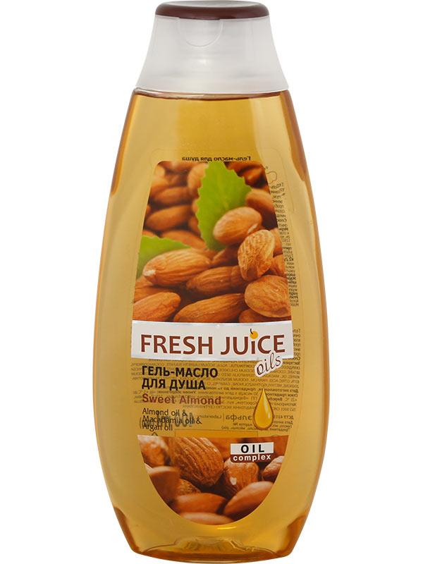 Гель для душаFresh Juice Гель-масло для душа Sweet Almond 400мл1823Almond oil & Macadamia oil & Argan oilС маслами миндаля, макадамии и арганы + увлажняющие компонентыГель-масло для душа «Сладкий миндаль» - идеальное сочетание деликатного очищения и ухода. Очищает и заботится о теле, обладая увлажняюще-питательными свойствами. Мгновенно окутывает Вас легким ароматом сладкого миндаля, пробуждая незабываемые эмоции. Мягко очищает кожу, не пересушивая ее. Кожа после использования гель-масла «Сладкий миндаль» необыкновенно нежная и шелковистая в течение всего дня.