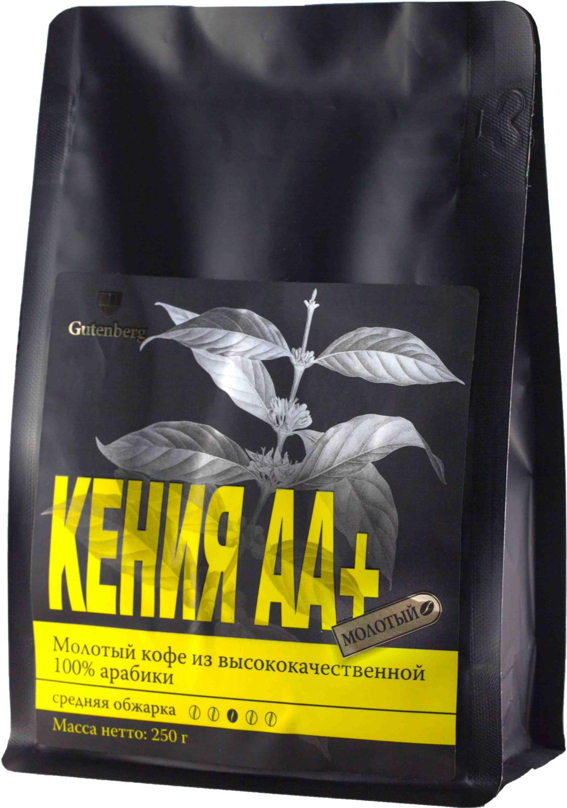 garuda bali кофе молотый 250 г Кофе молотый Gutenberg Кения Аа+, 250 г