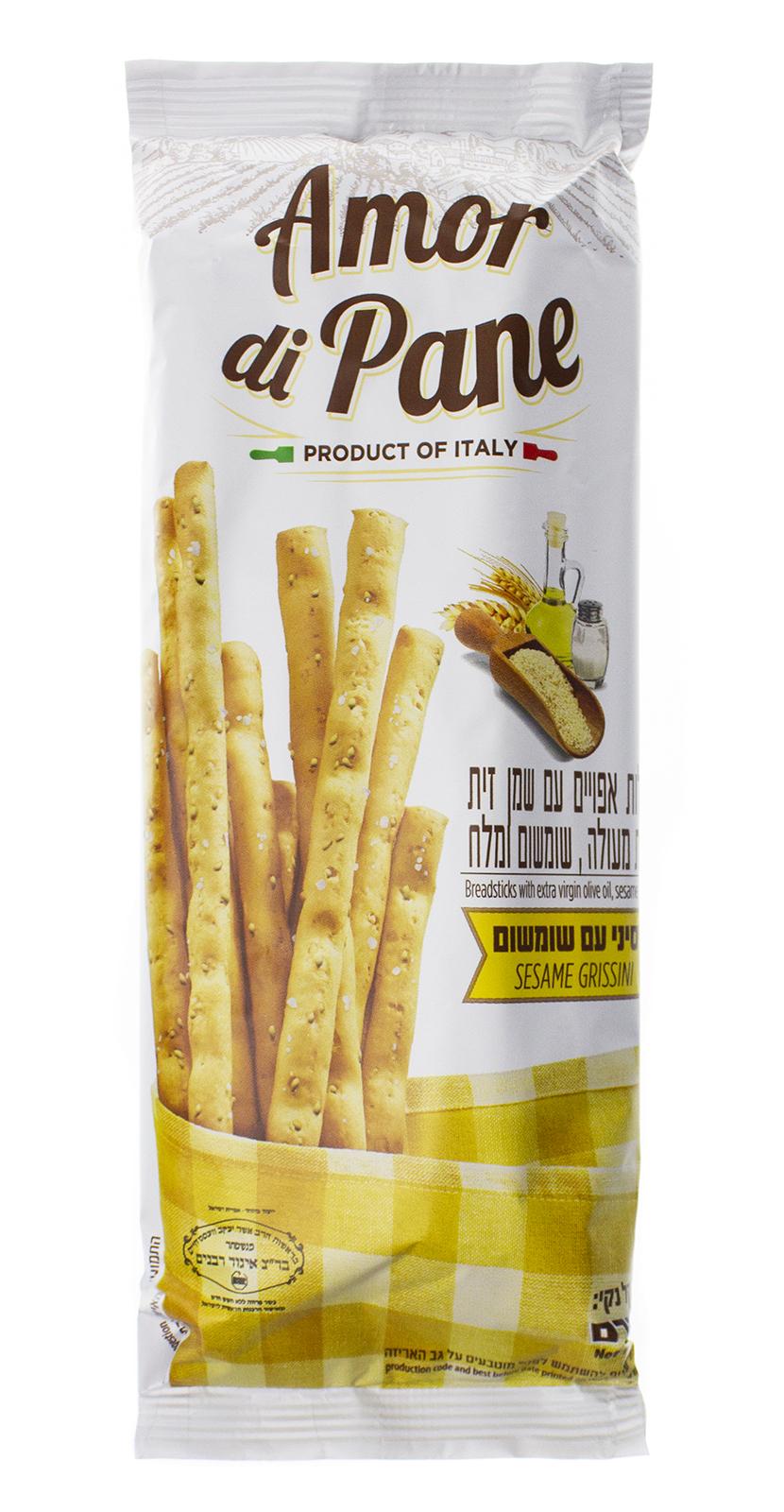 """Хлебные палочки  80590, Кунжут, 125 Хлебные палочки""""Амор ди Пан""""с..."""