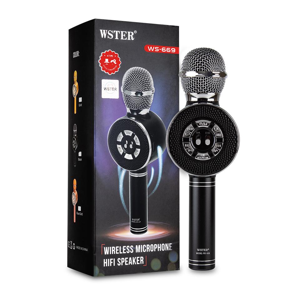 Микрофон WSTER WS-669, черный