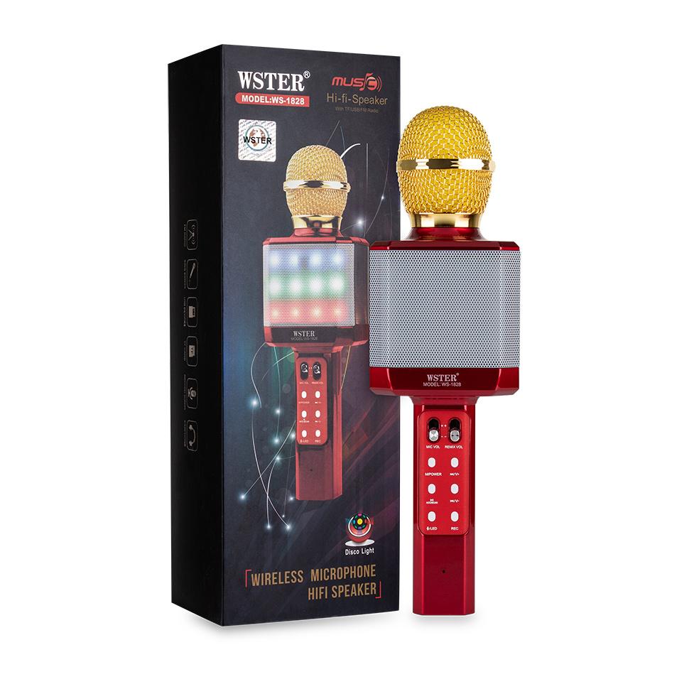 Микрофон WSTER WS-1828, красный