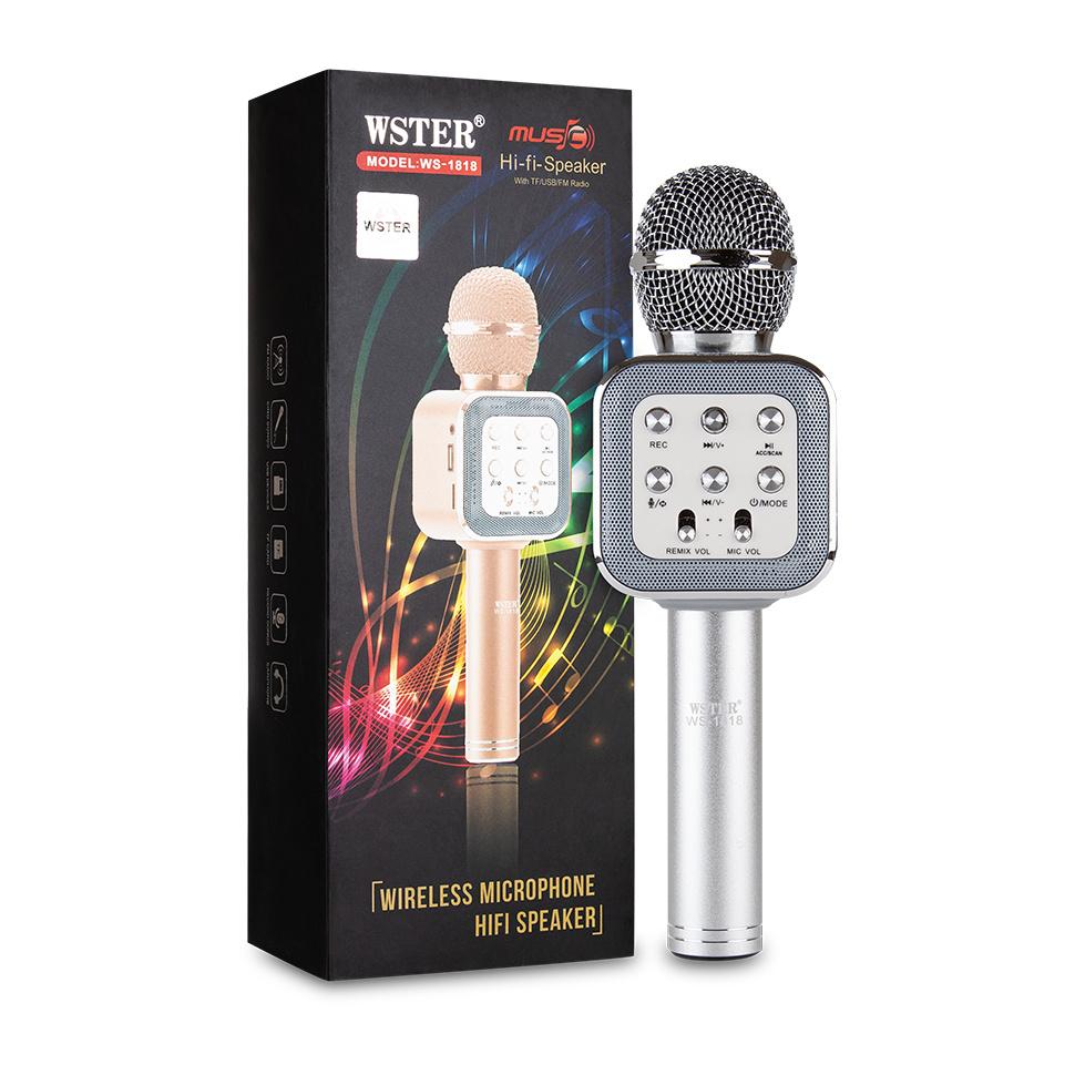 Микрофон WSTER WS-1818, серебристый