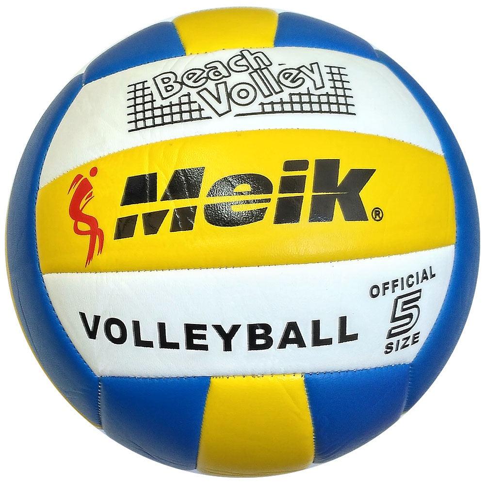 """Мяч волейбольный Meik 1001436610014366R18035 Мяч волейбольный """"Meik-503"""" PU 2.5, 270 гр, машинная сшивка Мяч для волейбола Meik 503 выполнен из качественного полиуретана толшина 2,5мм Вес 270гр., 18 панелей соединенных методомом машинной сшивки. Размер 5 - Подходит для игры в зале и на пляже Мячи производства Meik за многие годы показали себя довольно хорошо и составили серьезную конкурентцию брендовым мячам в категории любительских и тренировочных мячей. Надежное качество и сравнительно низкая цена и есть гланые оссобенности данных мячей."""
