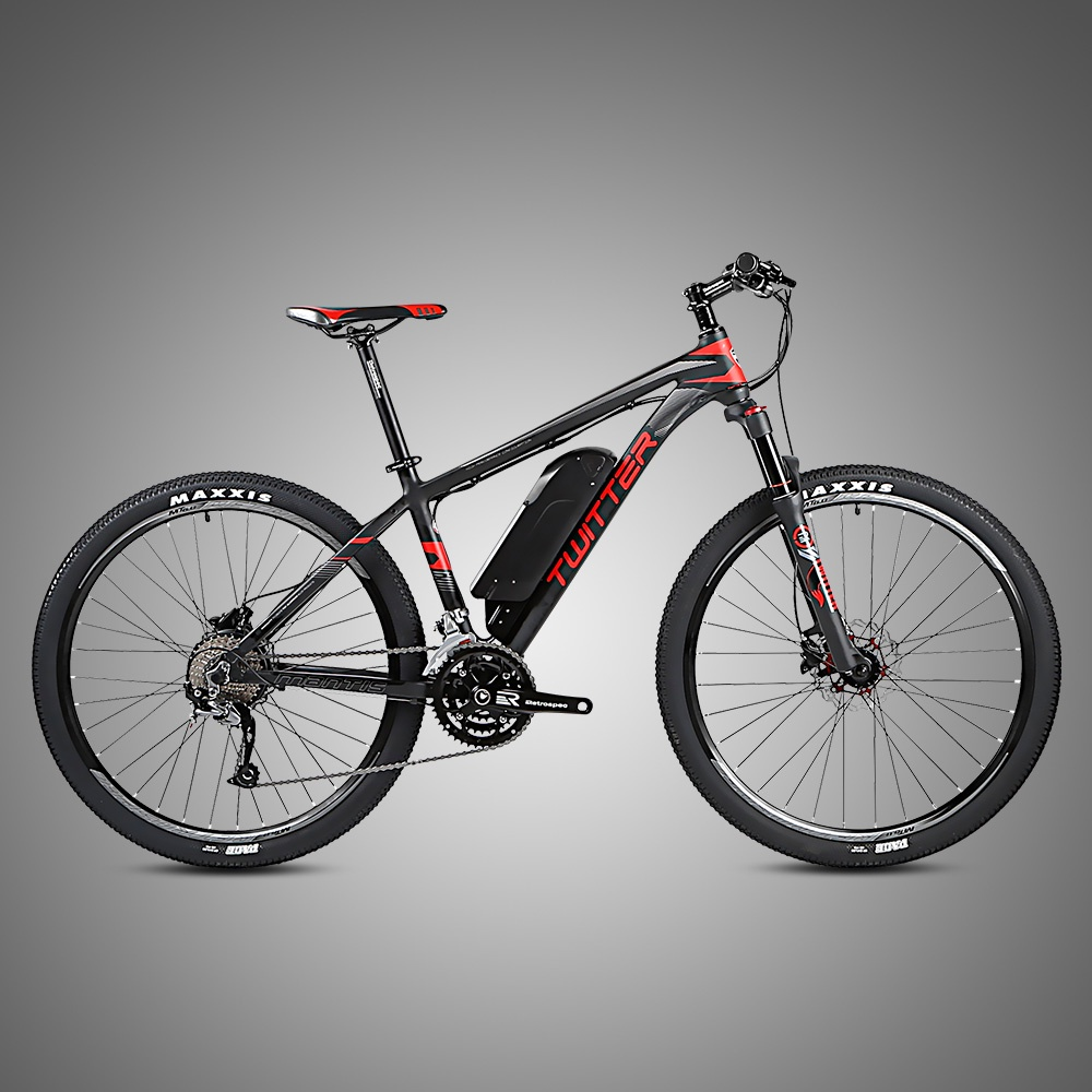 Электровелосипед Twitter MANTIS-E1-15.5, черный, красный