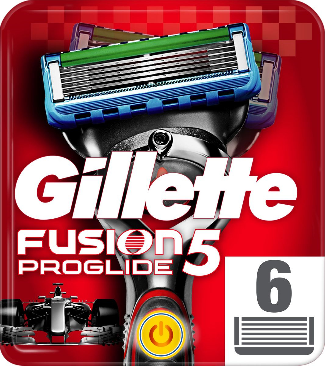 Сменные кассеты для бритв Gillette Fusion5 ProGlide Power, 6 шт
