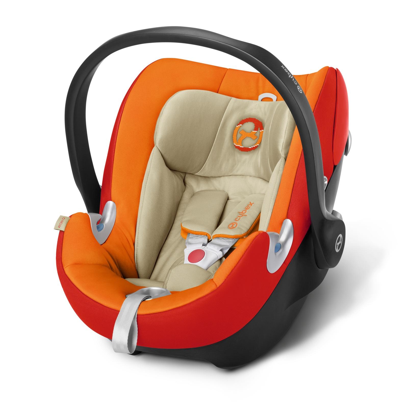 Автокресло Cybex Aton Q оранжевый сумка для коляски cybex priam birds of paradise