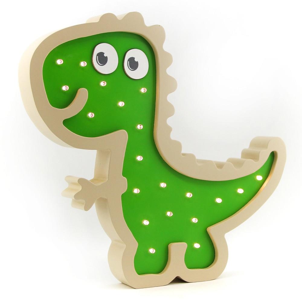 Ночник Ночной лучик детский настенный Динозаврик ДМ-10, бежевый