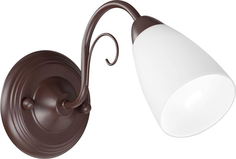 Настенный светильник Vitaluce, Е14, 40 Вт, V3499-7/1A, коричневый матовый светильник настенный vitaluce v3730 7 1a
