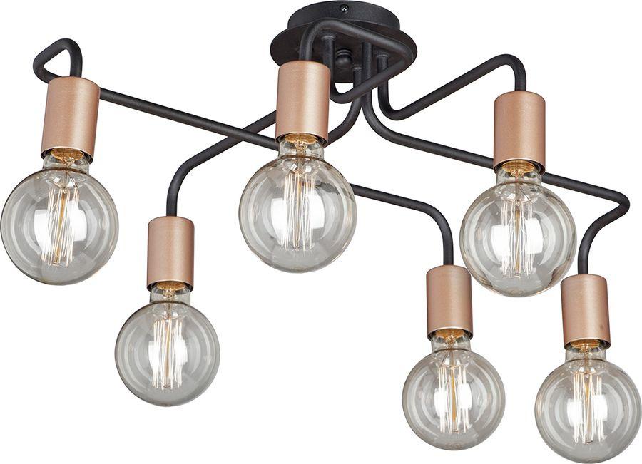 Фото - Подвесной светильник Vitaluce, 6 х Е27, 60 Вт, V4560-1/6PL, черный матовый люстра vitaluce 6 х е14 60 вт v3675 6pl