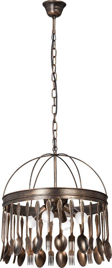 Подвесной светильник Vitaluce, 4 х Е14, 40 Вт, V4541-8/4, коричневый