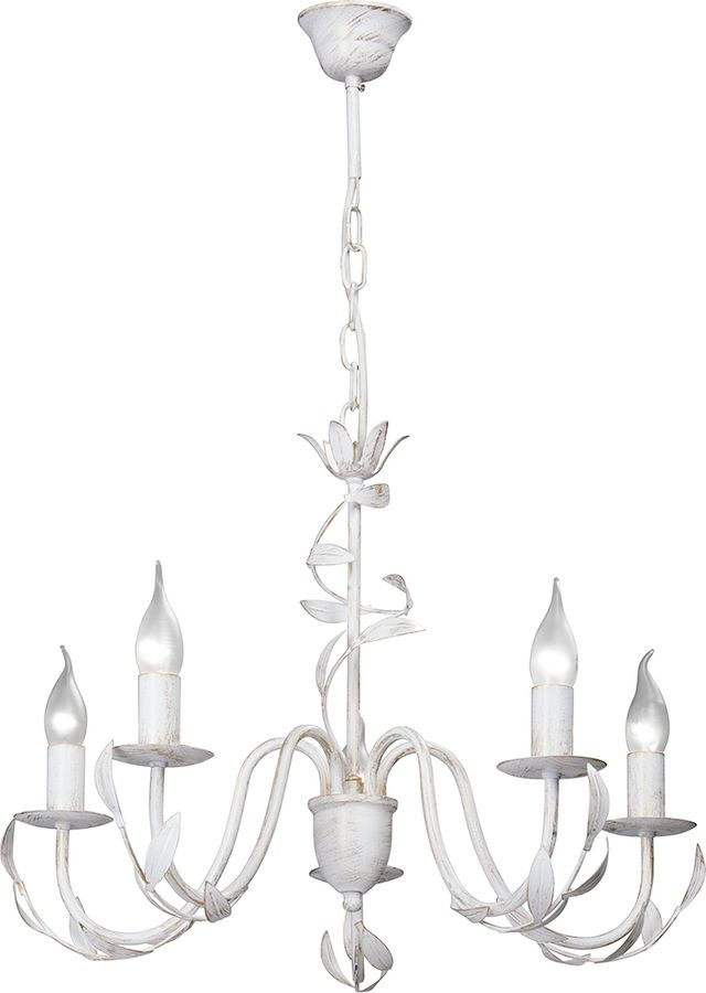 Подвесной светильник Vitaluce, 5 х Е14, 40 Вт, V1832-0/5, белый матовый