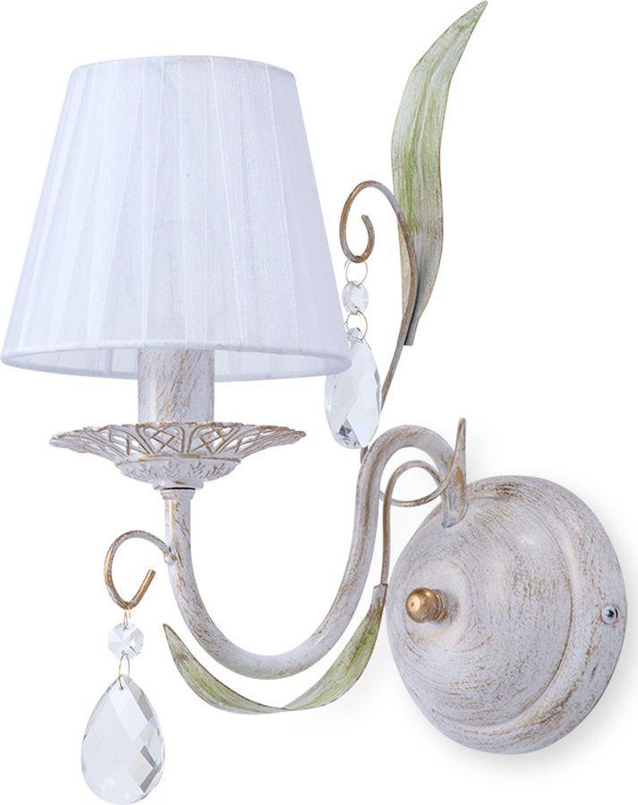 Настенный светильник Vitaluce, Е14, 60 Вт, V1449/1A, белый глянец светильник настенный vitaluce v1039 1a