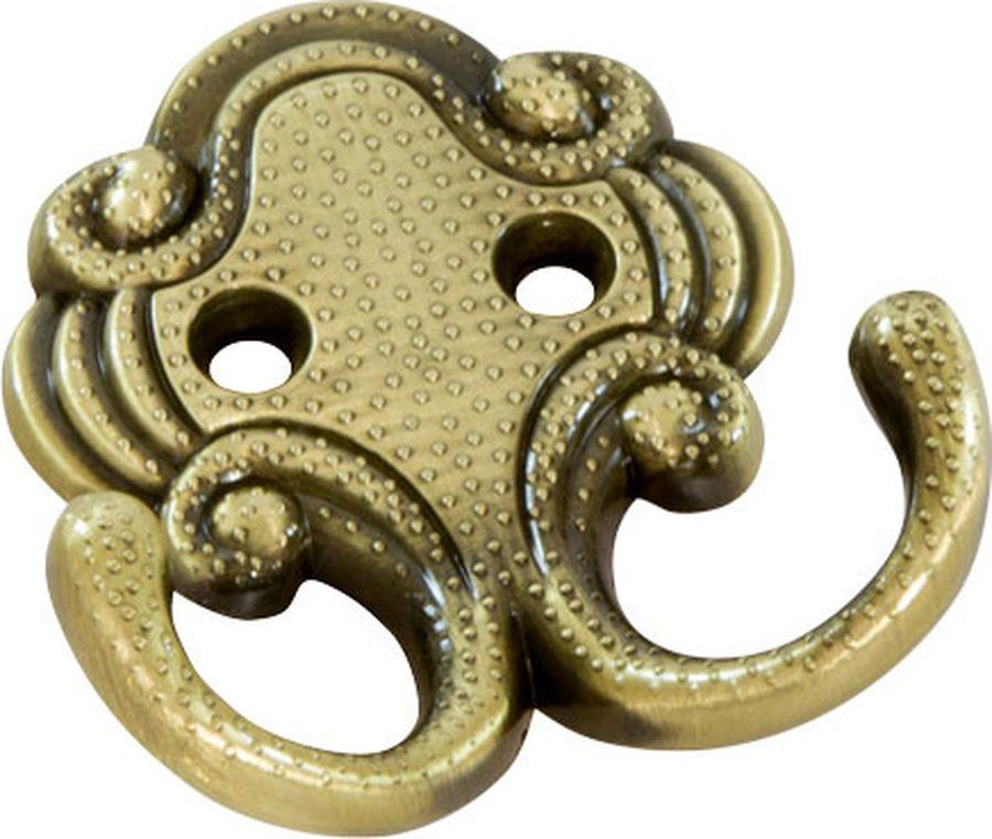 Фото - Крючок мебельный Kerron, KR 0201 BA, античная бронза, 65 х 50 х 20 мм крючок мебельный kerron kr 0101 ab бронза 70 х 73 х 20 мм