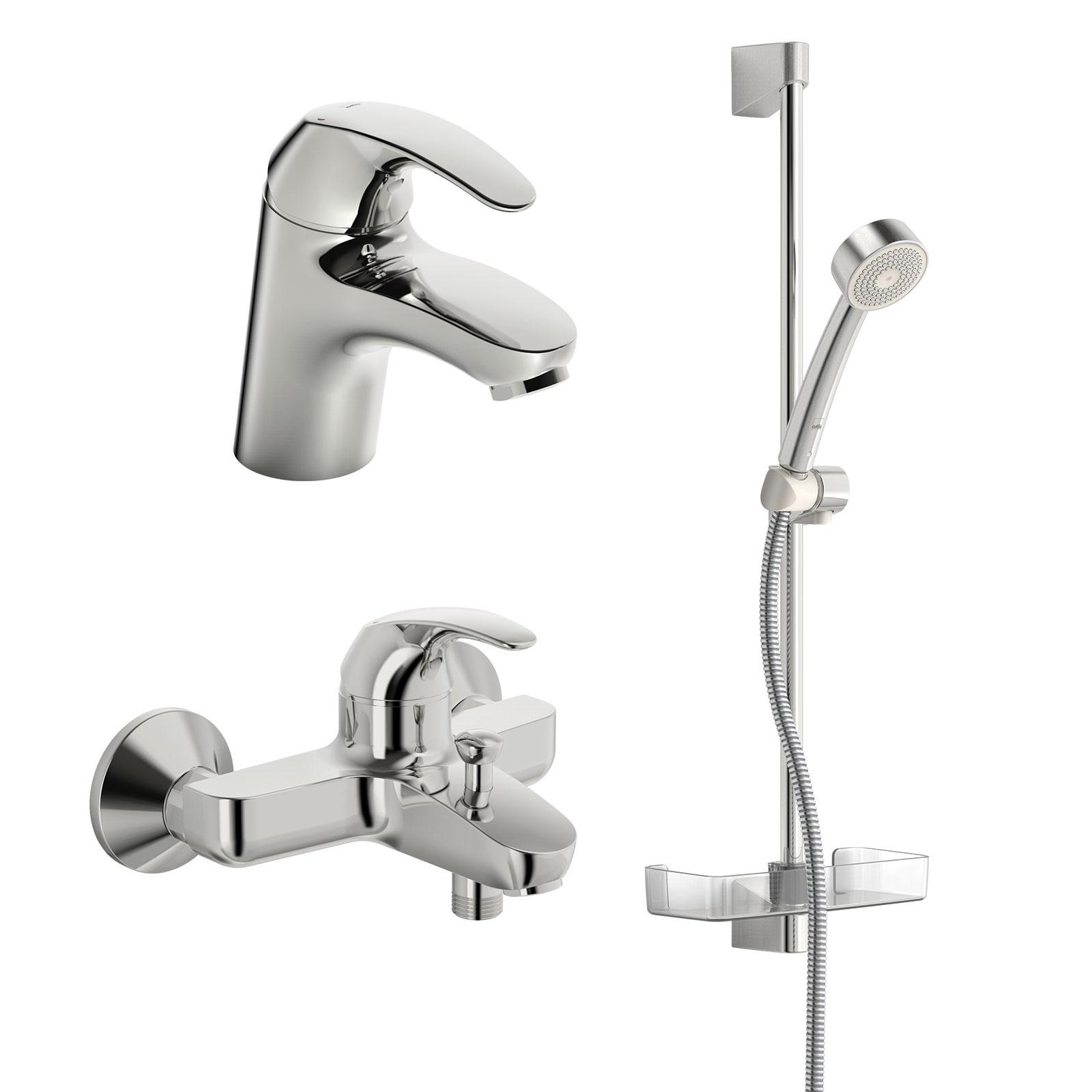 Душевой комплект Oras Polara 1496 Набор смесителей для ванной комнаты смеситель для ванны и душа с душевым комплектом oras polara 1448y