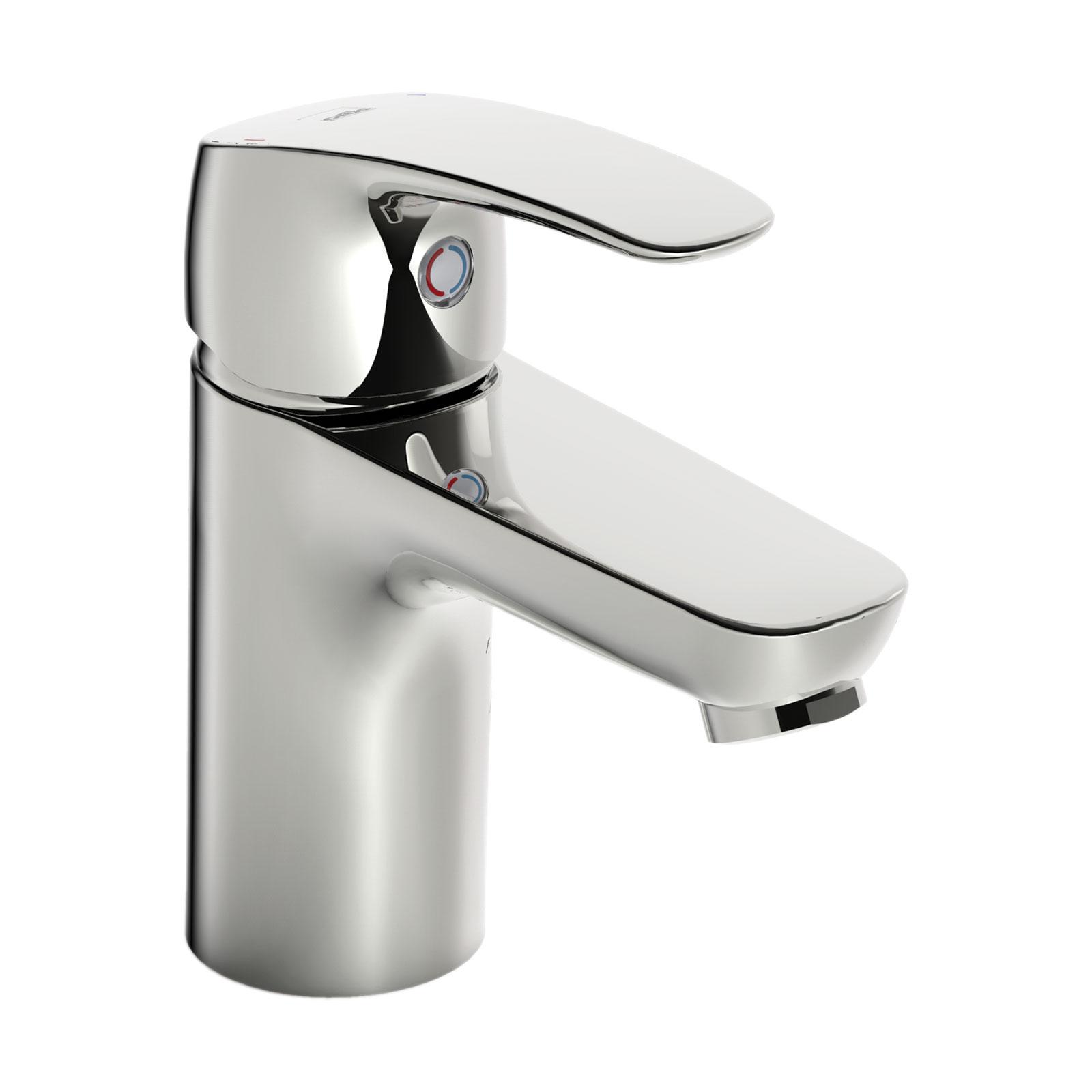 Смеситель Oras для умывальника Safira 1010F, серый1010FCмеситель для умывальника. Двухкомпонентная прочная рукоятка обеспечивает удобство использования. Встроенные опции ограничения температуры и напора воды._x000D_ F = Гибкая подводка