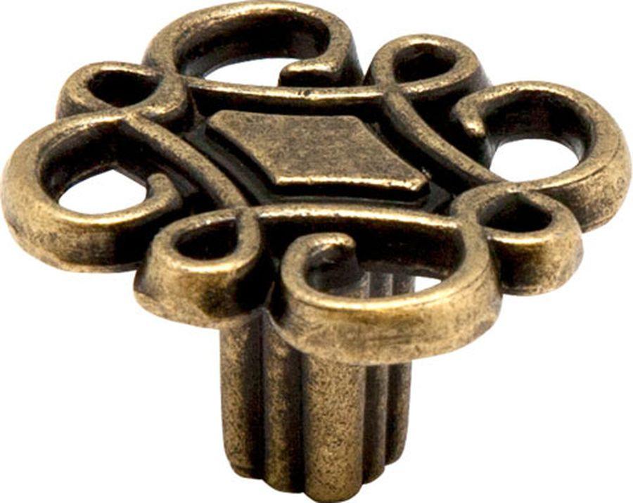 Ручка мебельная Kerron, RK-078 OAB, оксидированная бронза ручка кнопка мебельная
