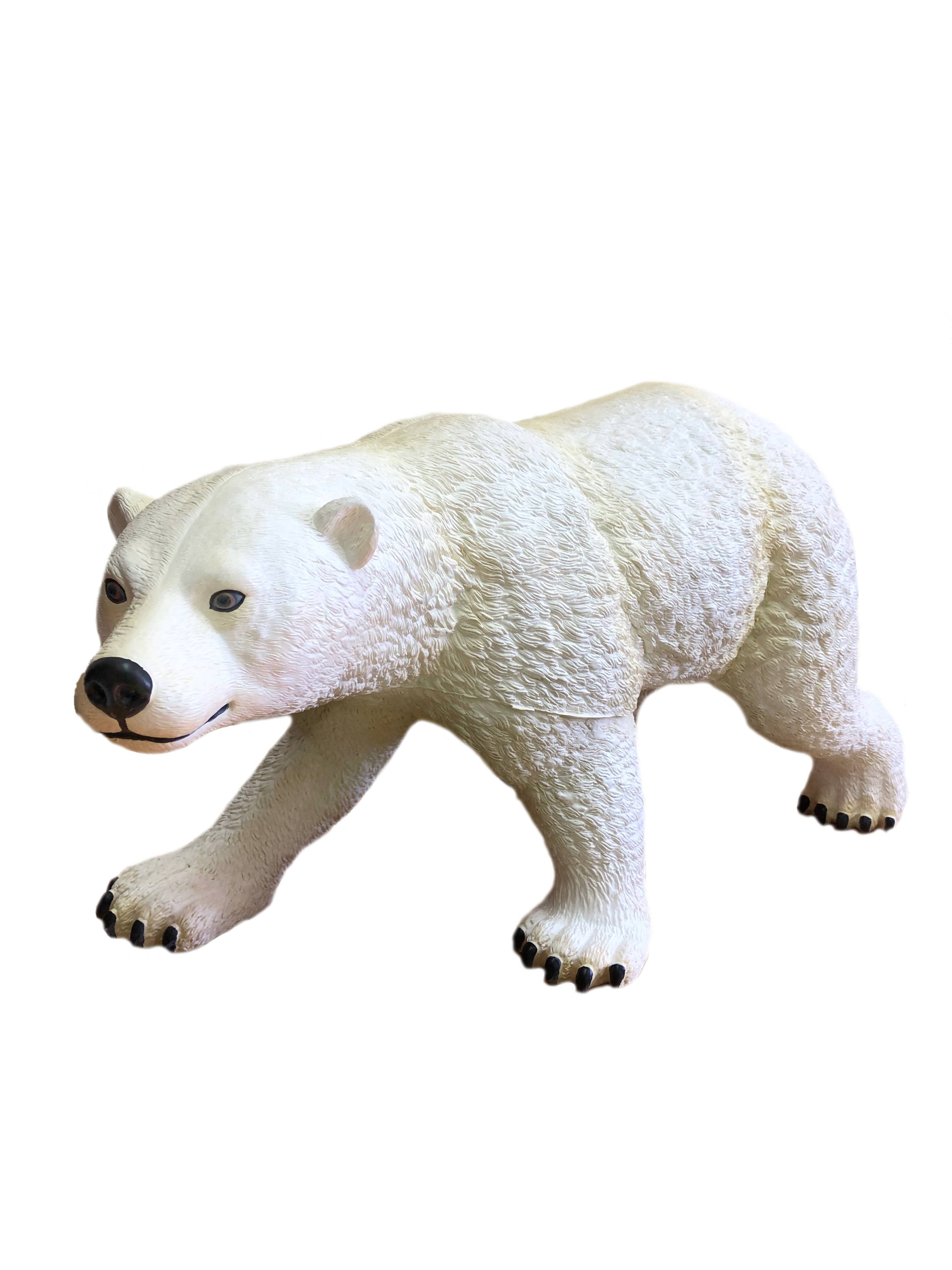 Фигурка АБВГДЕЙКА Медведь Большой белыйPE0050Большой Белый медведь - прекрасная игрушка из каучука с мягкой набивкой - холлофайбера для ребенка, познающего окружающий мир и желающего разобраться во всех его секретах. Являются точной копией настоящего животного . Физические возможности каучука дают отличную возможность создавать игрушку с большим количеством деталей, выделить даже пушистую шкуру медведя. Отличная проработка деталей за счет нанесения раскраски вручную, выглядит очень реалистично. Помимо этого, такая игрушка очень легкая и приятна на ощупь.