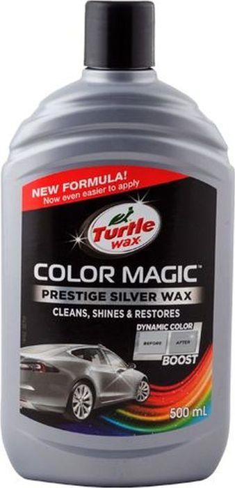 цена на Автополироль Turtle Wax Color Magic Prestige Silver Wax, восковой, 52710, 500 мл, серебристый