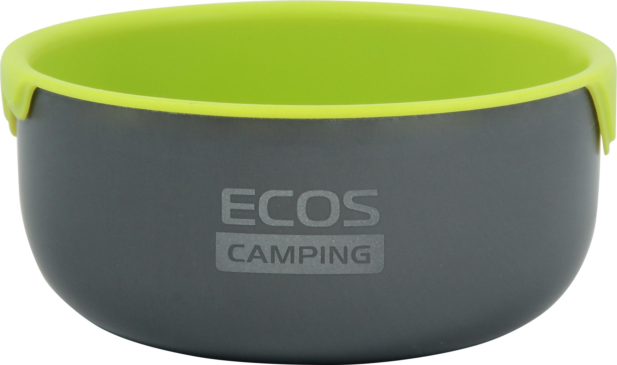 Миска походная Ecos CT080, салатовый, черный