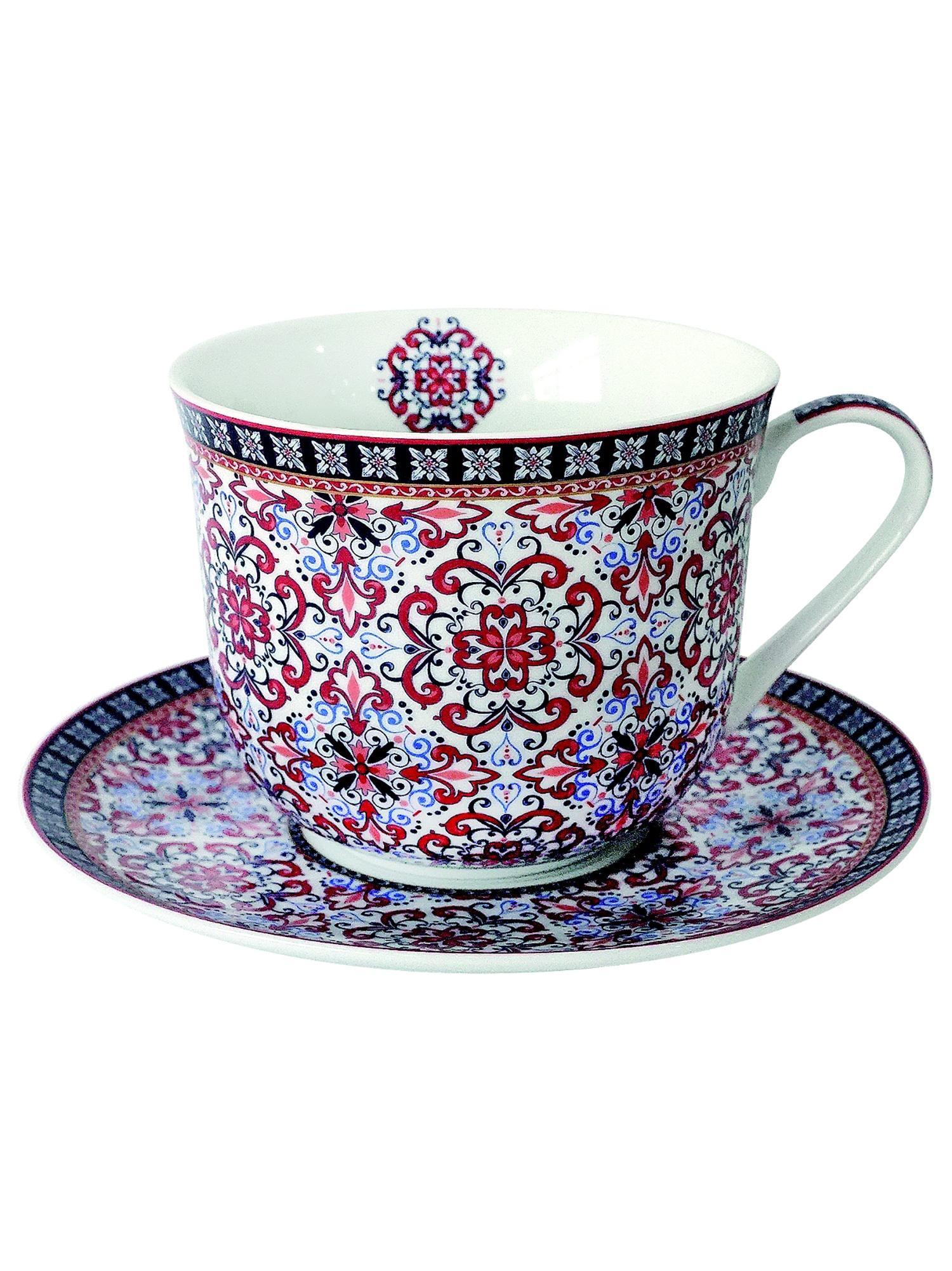 Чайная пара Коралл 960011, Фарфор