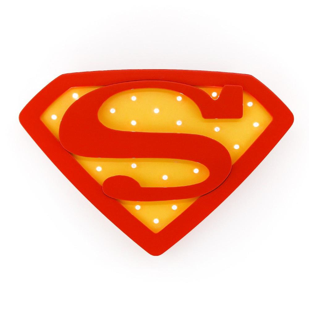 Ночник Ночной лучик детский настенный Супермен ДМ-02, красный все цены