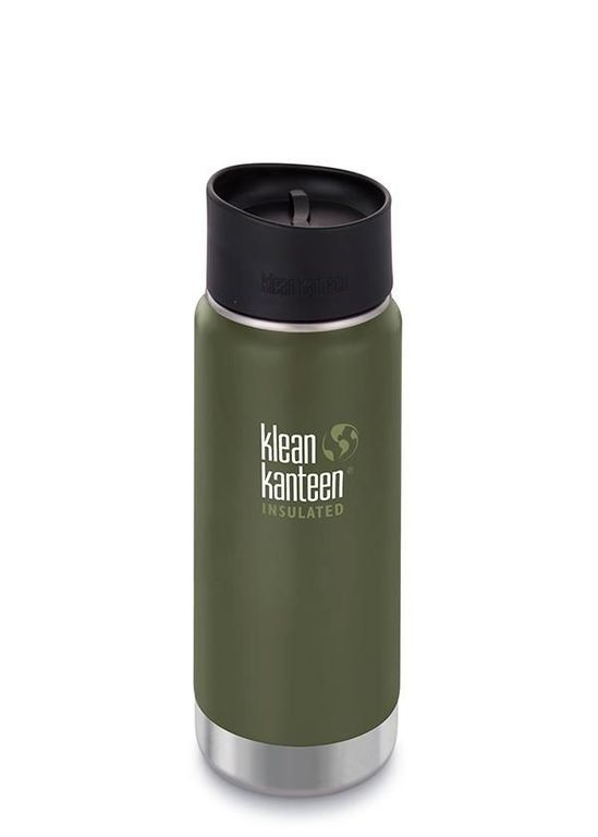Термос Klean Kanteen Insulated Wide Cafe Cap 16oz, хаки