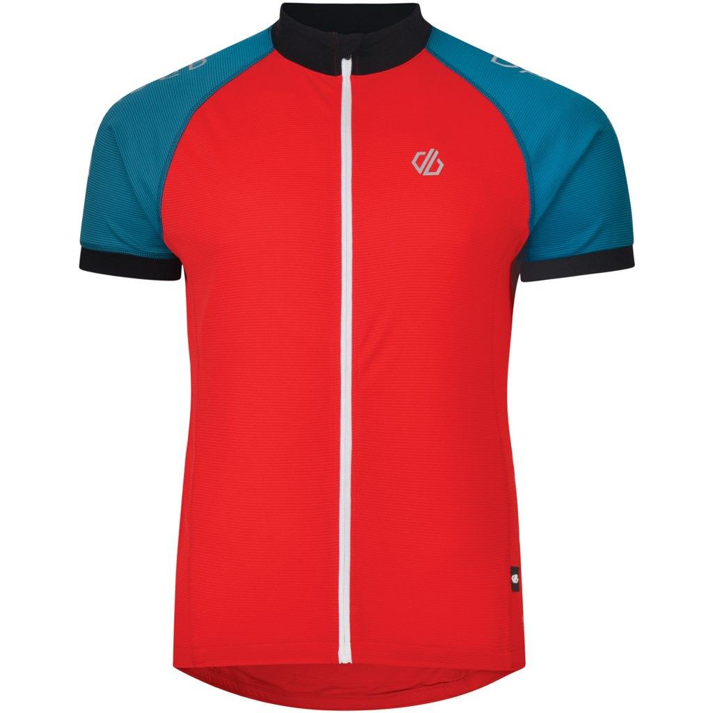 Веломайка мужская Dare 2b Accurate Jersey, цвет: красный. DMT477-5NQ. Размер L (52/54) веломайка мужская dare 2b equal jersey цвет зеленый dmt462 34l размер l 52 54
