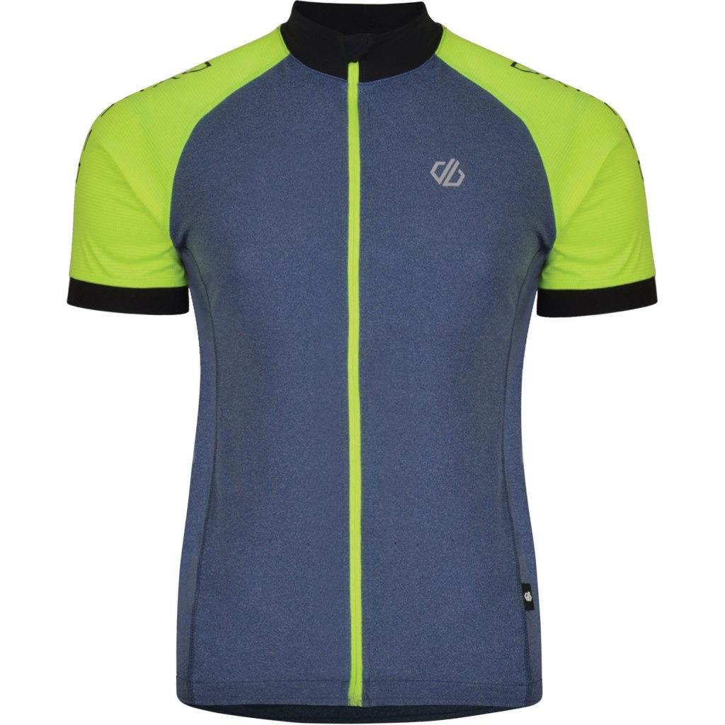 Веломайка мужская Dare 2b Accurate Jersey, цвет: серый. DMT477-50P. Размер L (52/54) веломайка мужская dare 2b equal jersey цвет зеленый dmt462 34l размер l 52 54