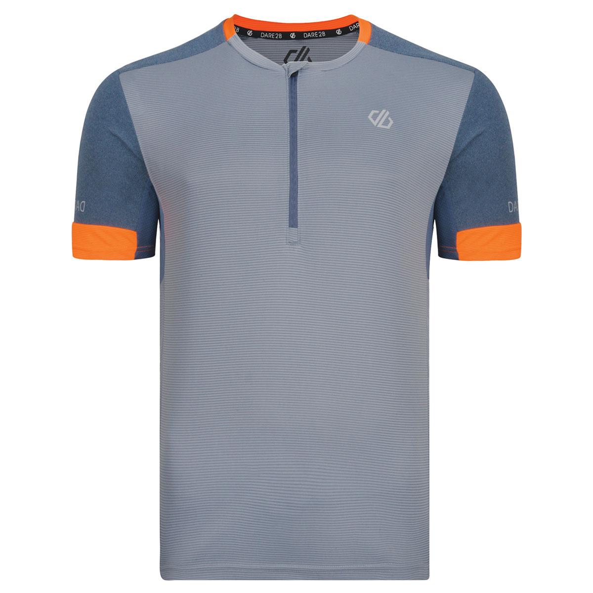 Веломайка мужская Dare 2b Equal Jersey, цвет: серый. DMT462-5PL. Размер L (52/54) веломайка мужская dare 2b equal jersey цвет зеленый dmt462 34l размер l 52 54