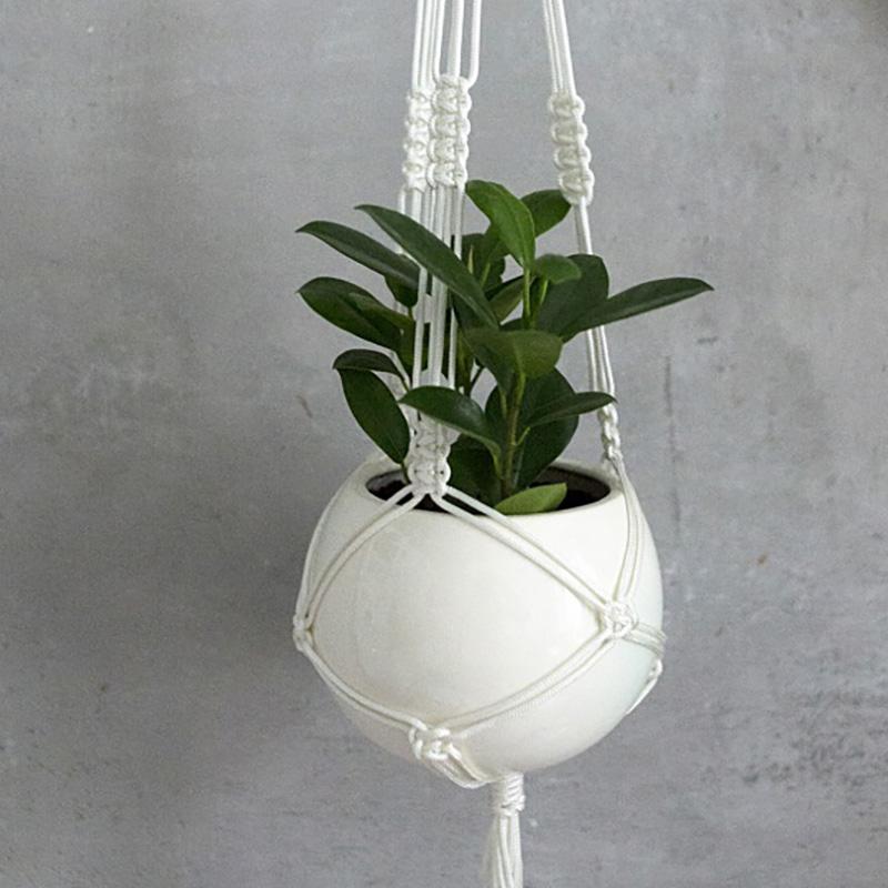 Кашпо FLORS Эко Подвесное кашпо Шар (набор для макраме), белый green garden кашпо teak s