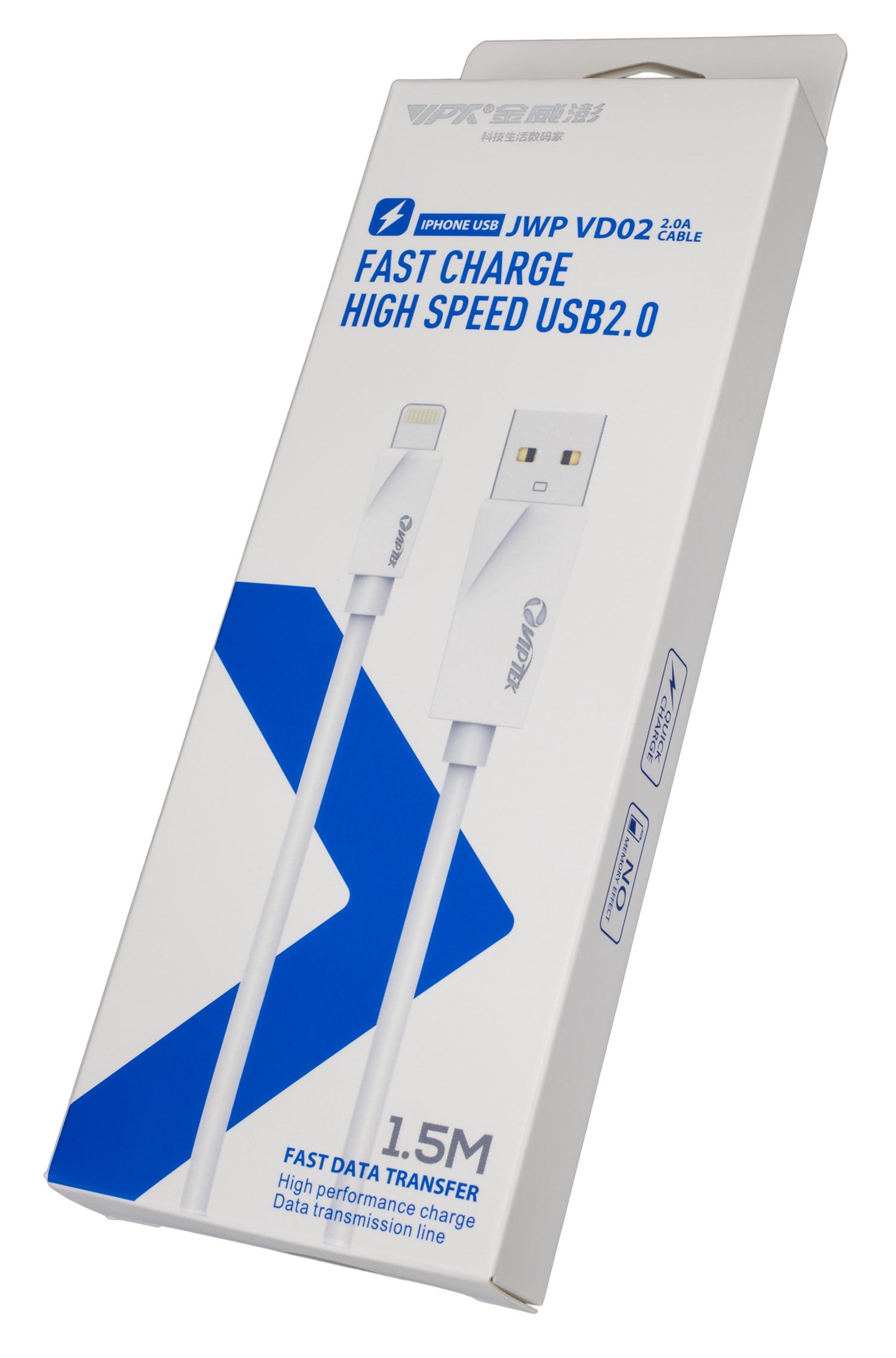 USB Кабель VipTek Type-C VD02 белый 2,1А интернет через wifi ноутбука