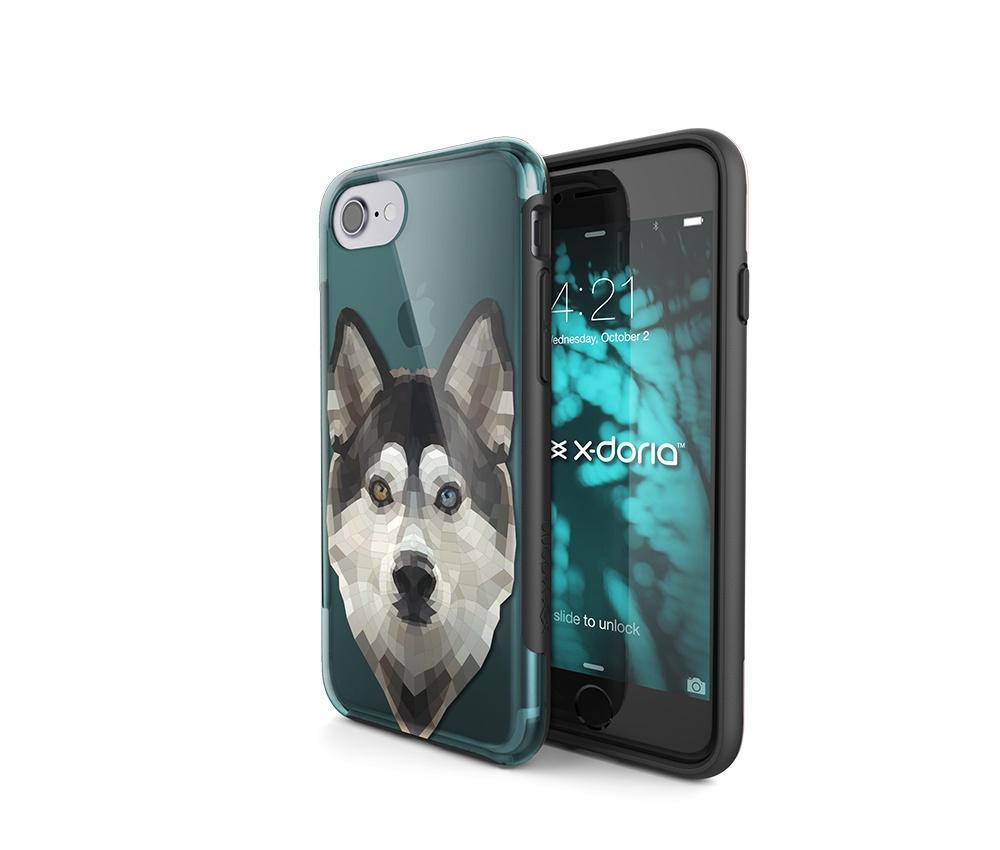 Чехол для сотового телефона X-Doria 451024, бирюзовый, прозрачный