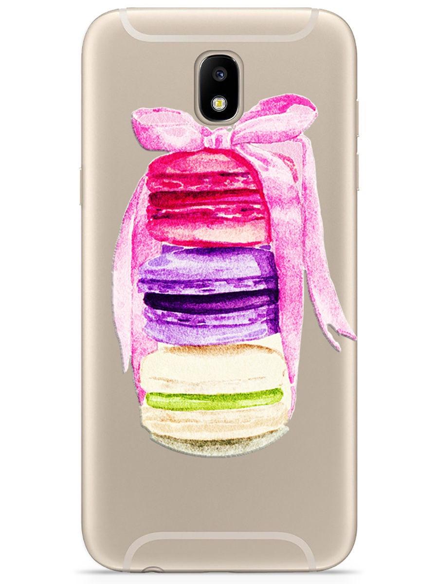 Чехол для сотового телефона With love. Moscow Art design для Samsung Galaxy J3 (2017), прозрачный
