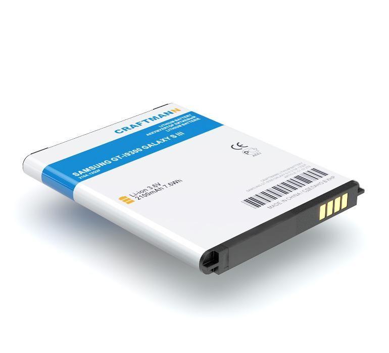 Аккумулятор для телефона Craftmann EB-L1G6LLU для Samsung GT-i9300 Galaxy S3, GT-i9060 Galaxy Grand Neo, GT-i9308 Galaxy S3, Frazer, i747, T999